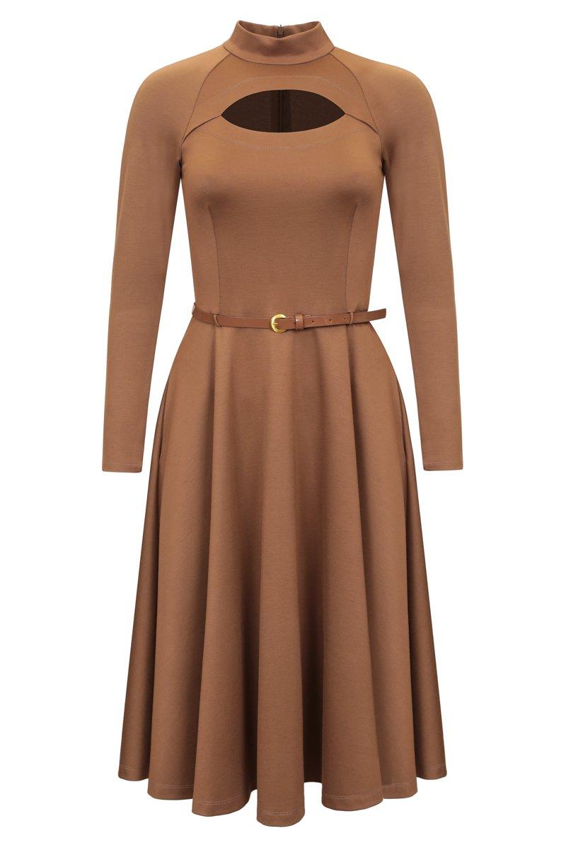 Платье с юбкой-солнце