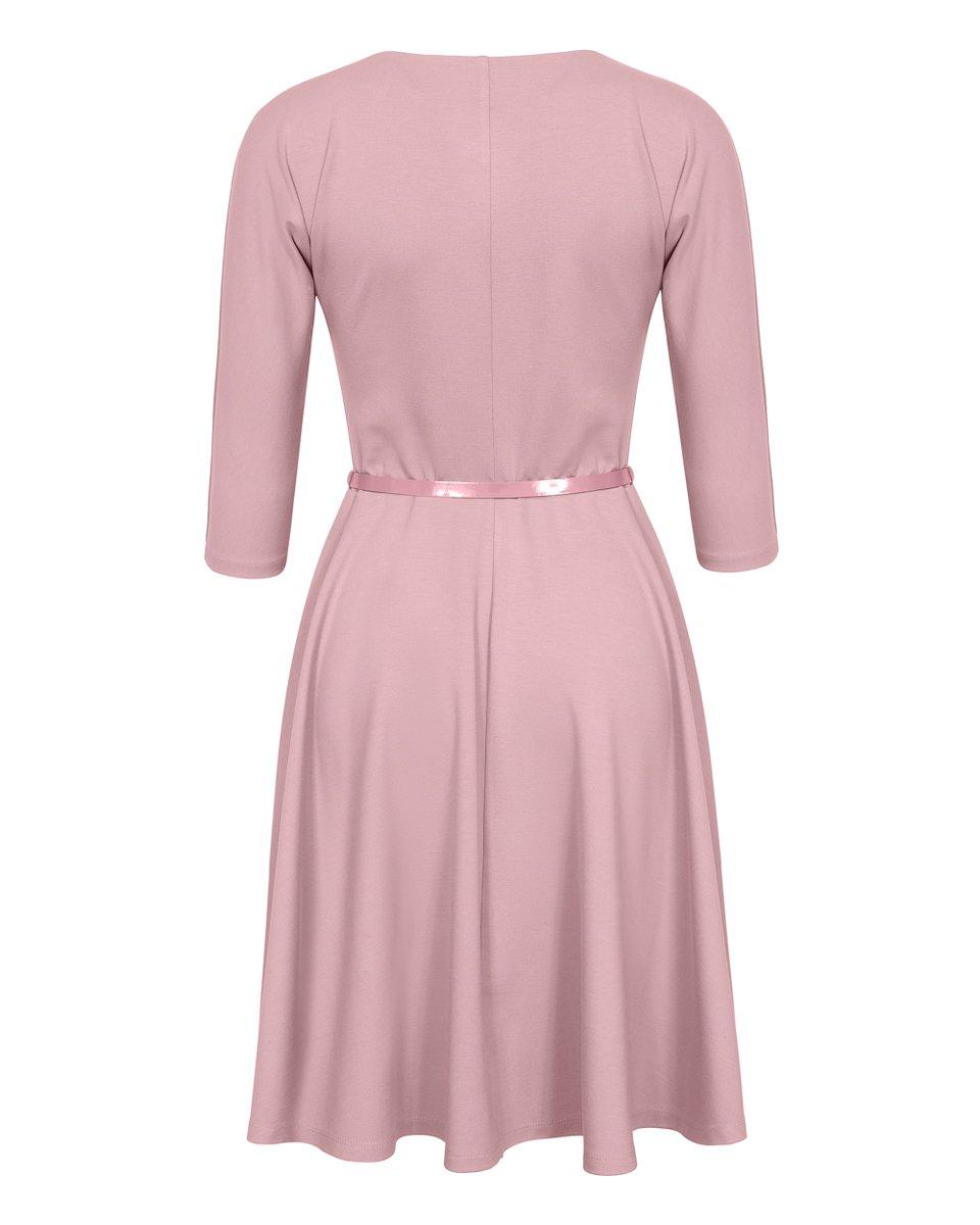 Платье с юбкой-солнце пудрово-розового цвета