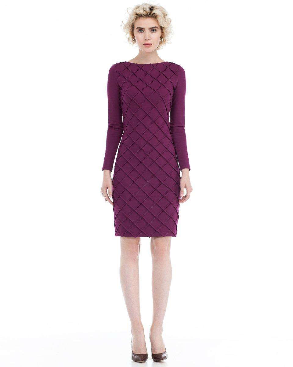 Облегающее платье цвета марсала