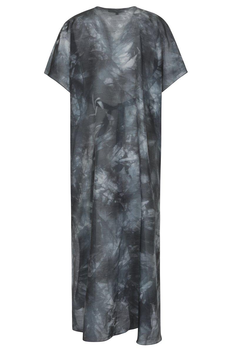 Платье свободного силуэта с кулиской на талии