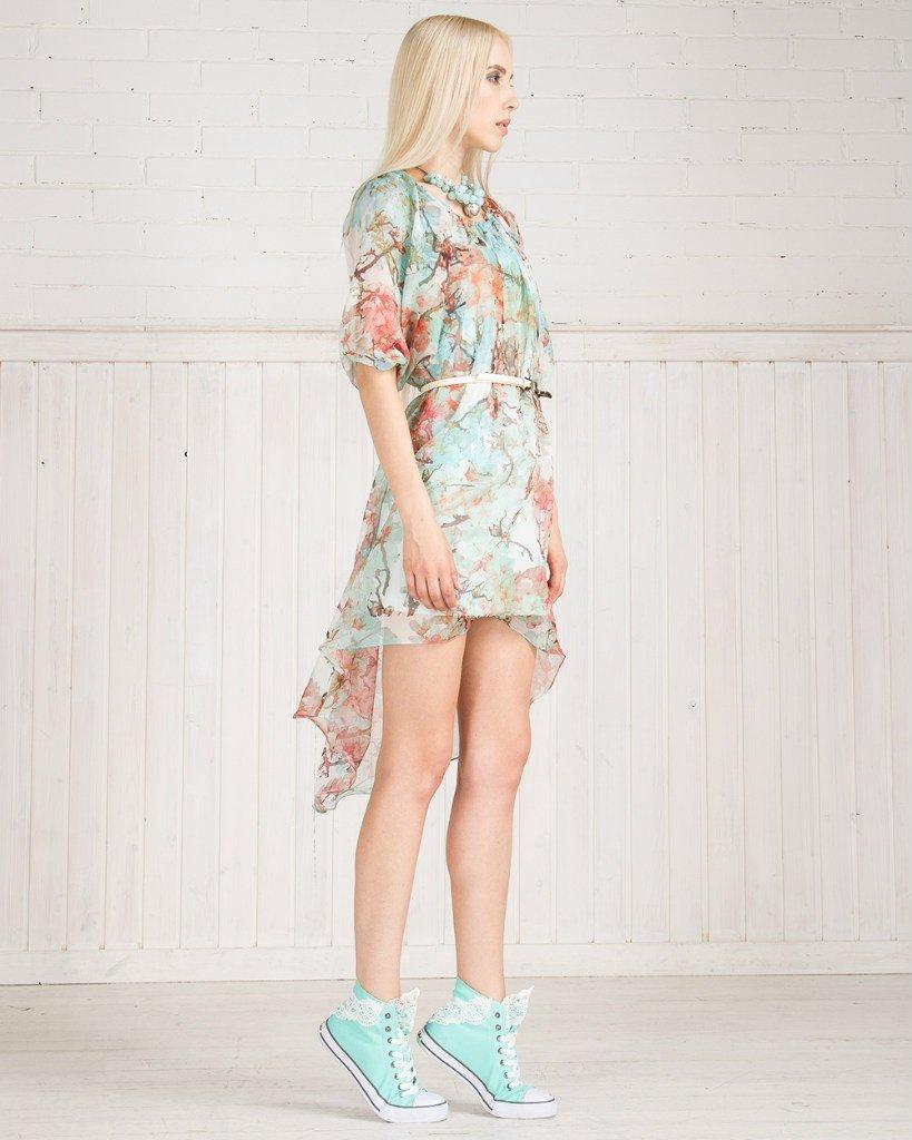 Платье-туника из натурального шелка