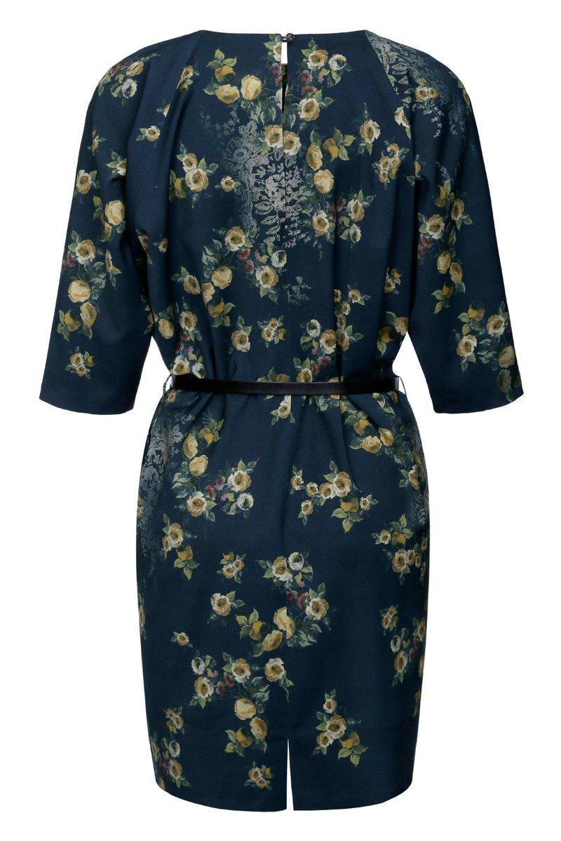 Платье - туника с принтом «розы»