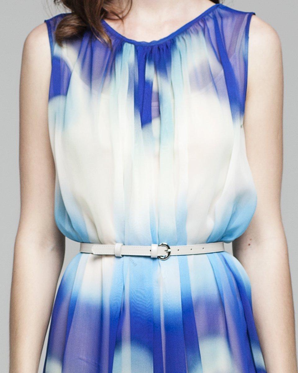 Платье в пол с морским принтом