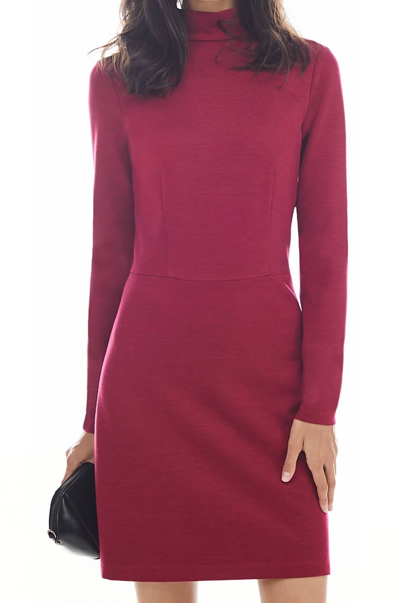 Базовое платье из эластичного трикотажа