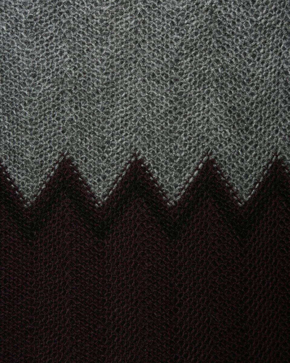 Платье вязаное с узором зигзаг