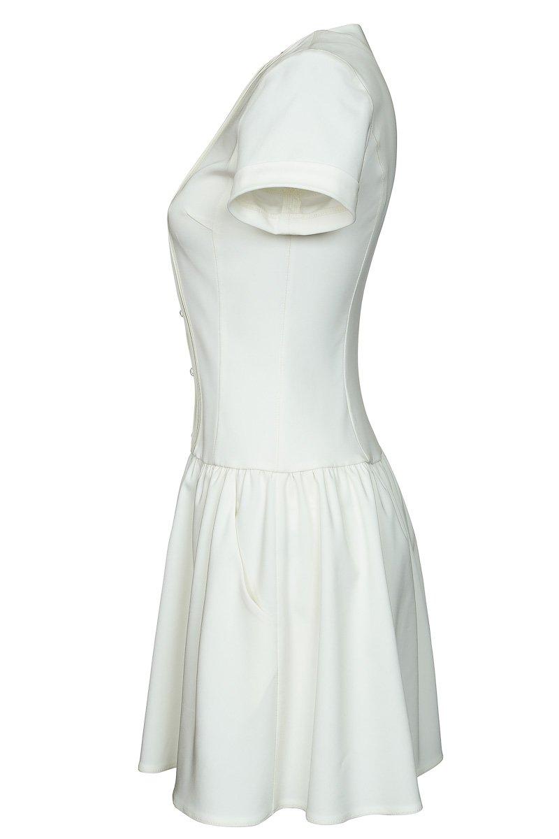 Платье рубашечного типа с объемной юбкой
