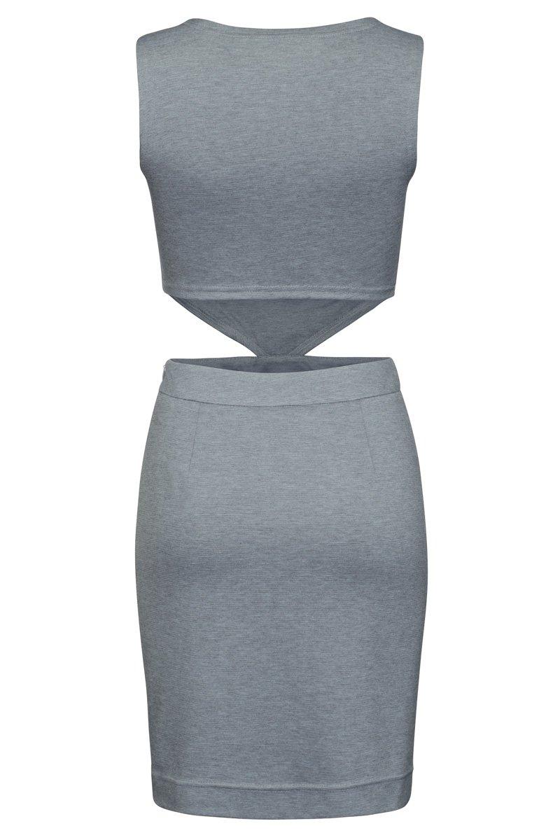 Платье трикотажное с вырезами по бокам