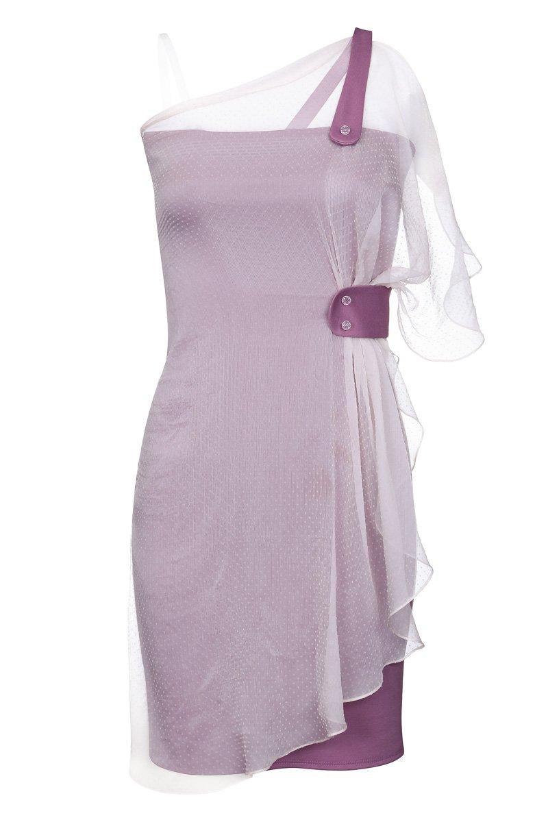 Платье трикотажное из комбинированных материалов