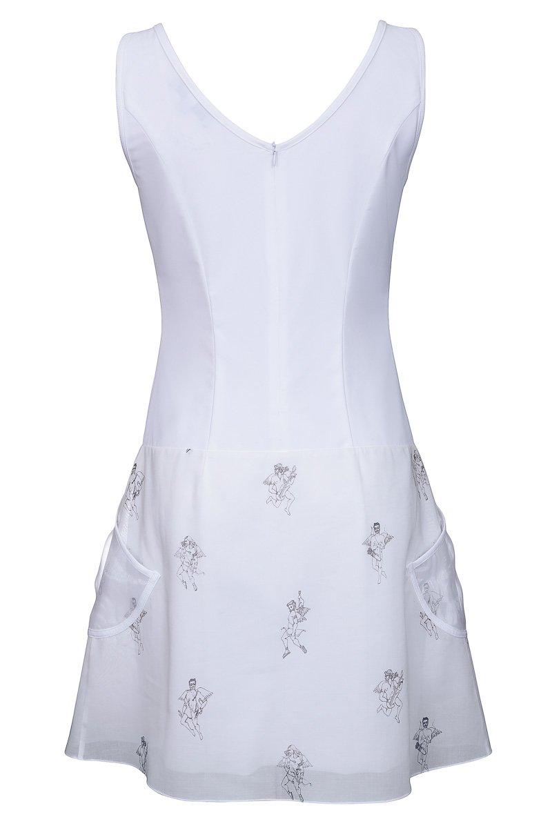 Платье облегающее с двойной юбкой
