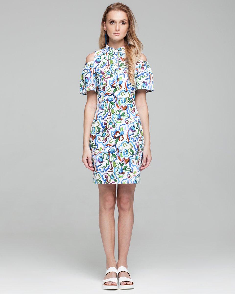 Короткое платье с пышными рукавами