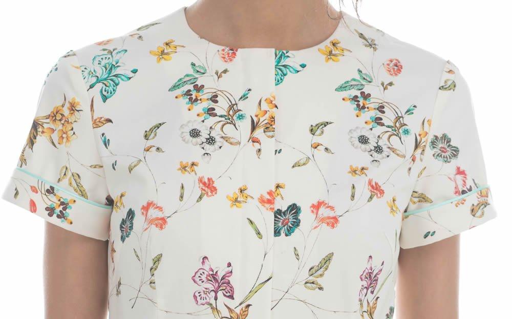 Платье из хлопка с цветочным рисунком