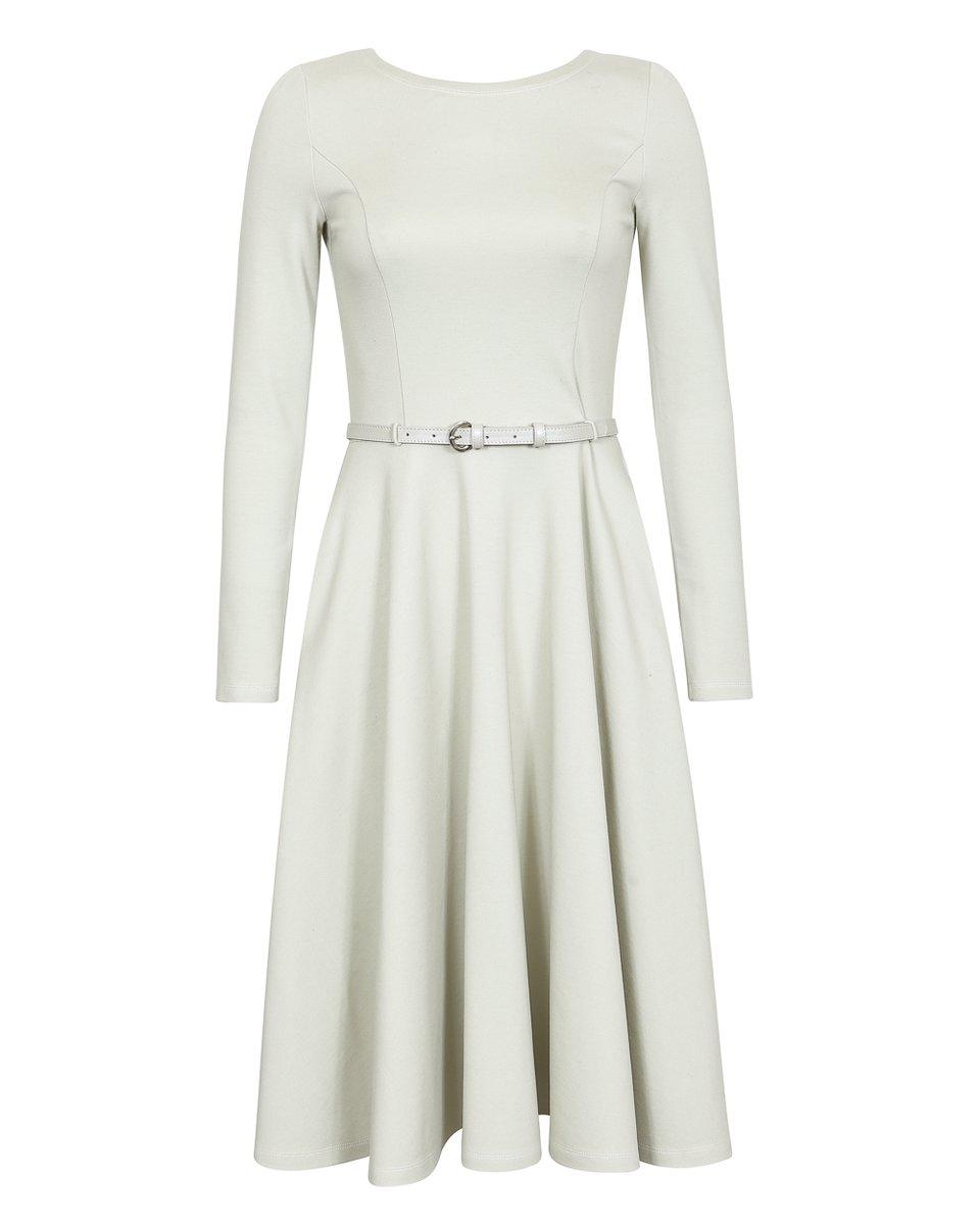 Платье с юбкой-полусолнце цвета слоновая кость