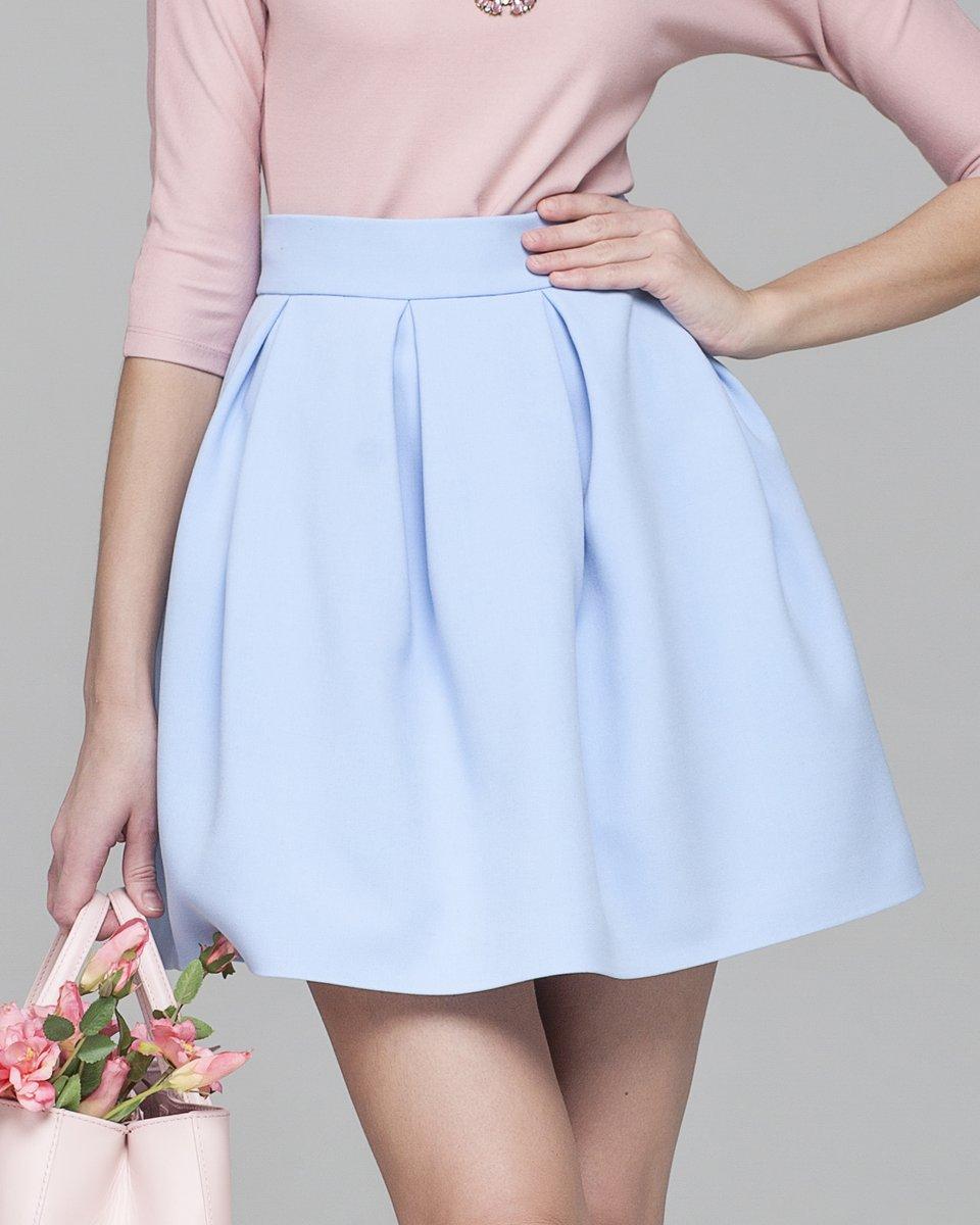 Пышная юбка из костюмной ткани