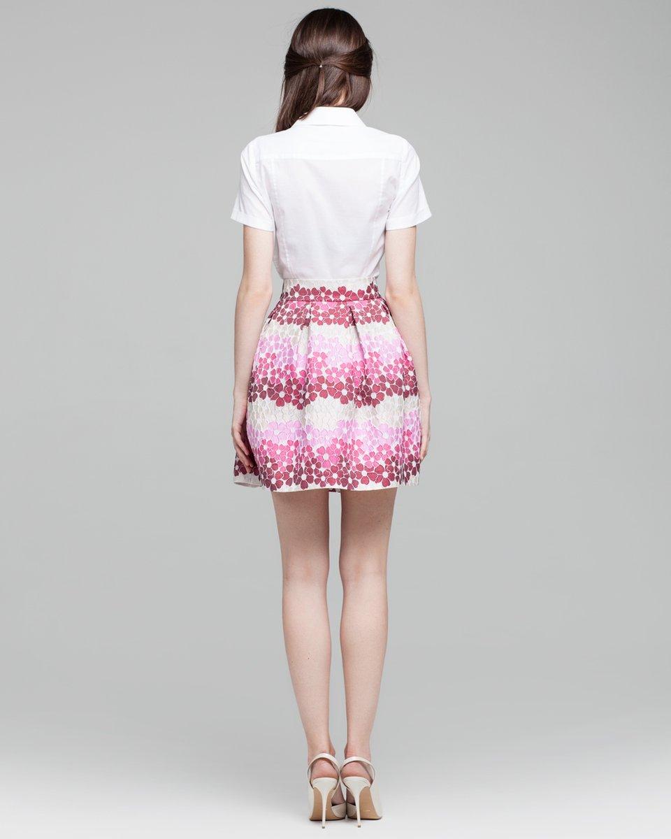 Пышная юбка из жаккардовой ткани