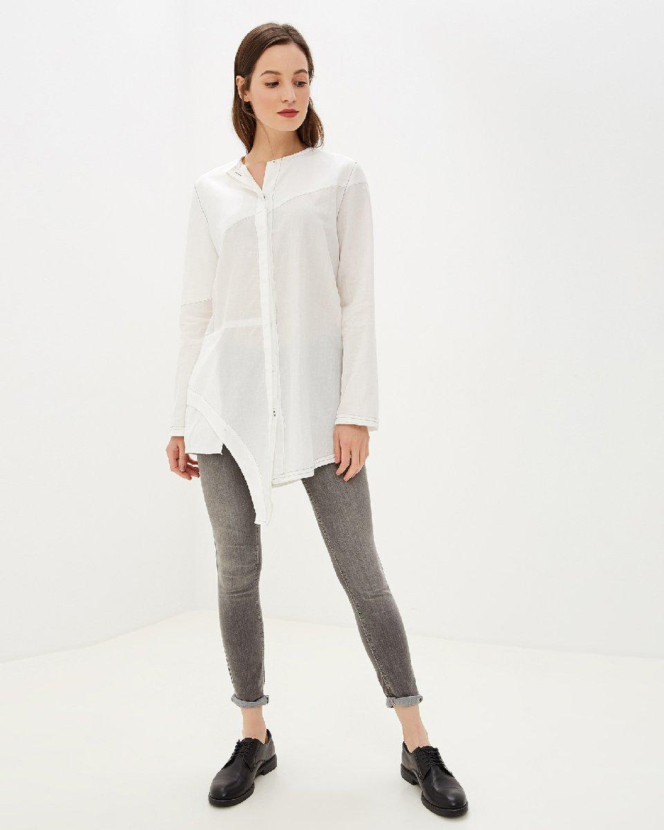 """Рубашка """"Carolina"""" с асимметричным подолом"""