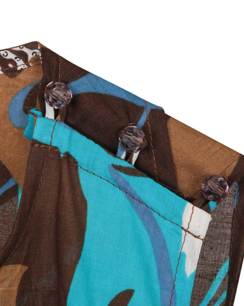 Сарафан длины макси с декоративным вырезом на спинке