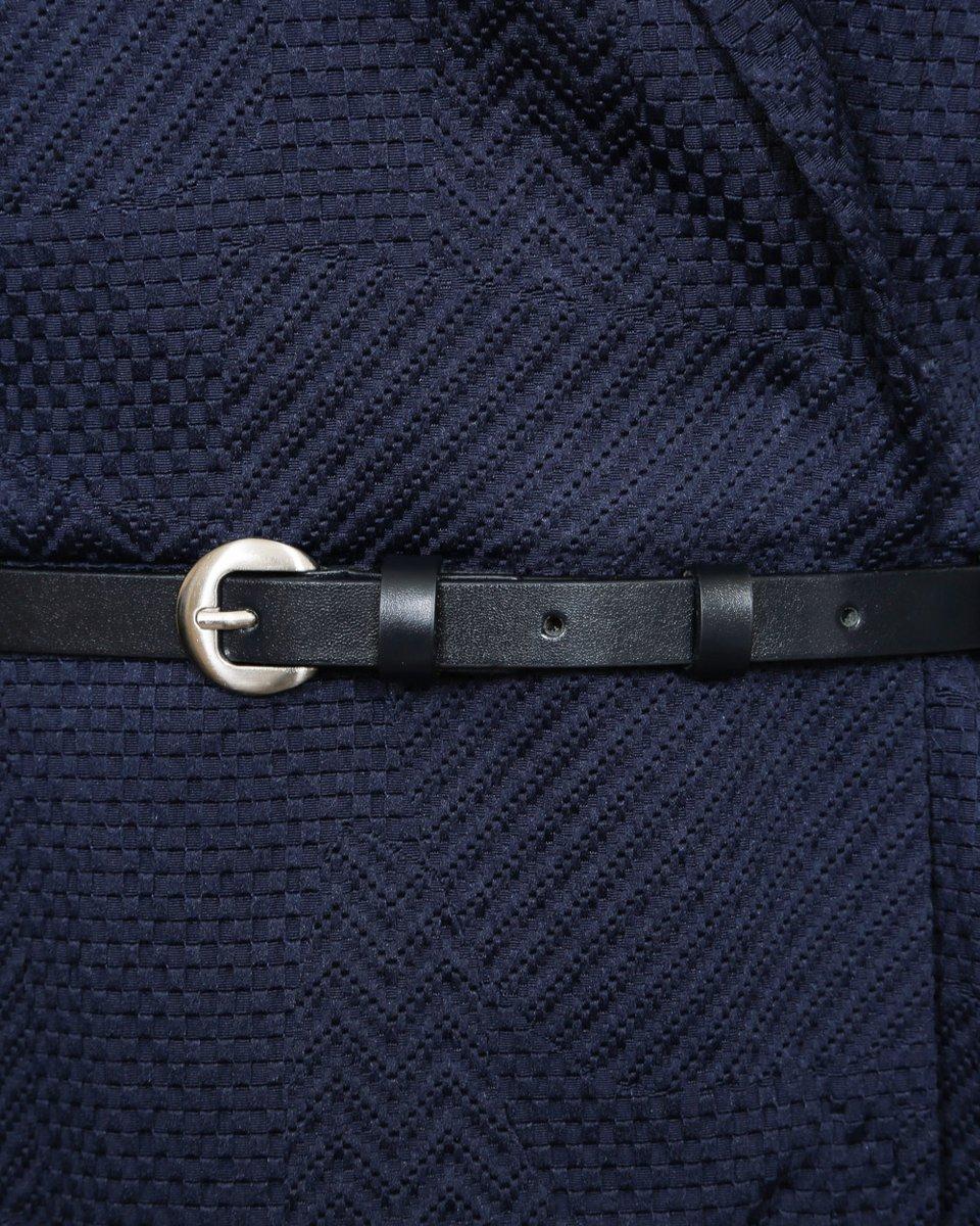 Двубортное платье-жилет темно-синего цвета