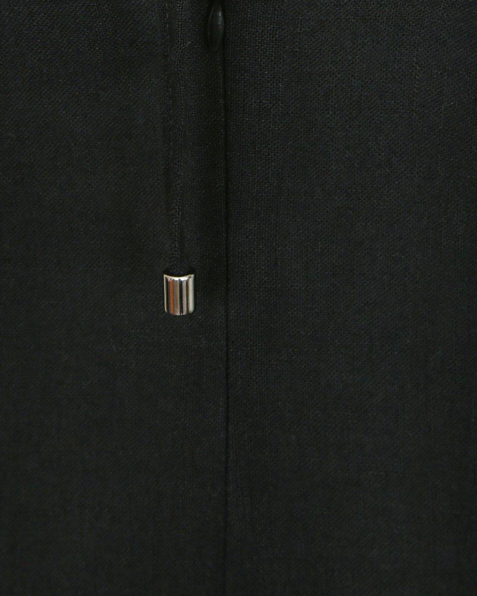 Сарафан из льняной ткани, черного цвета