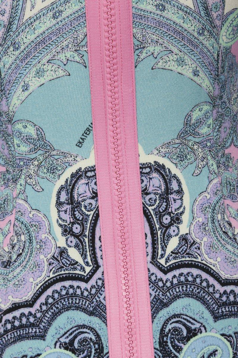 Платье из шерстяной ткани с принтом, цвет розовый и голубой