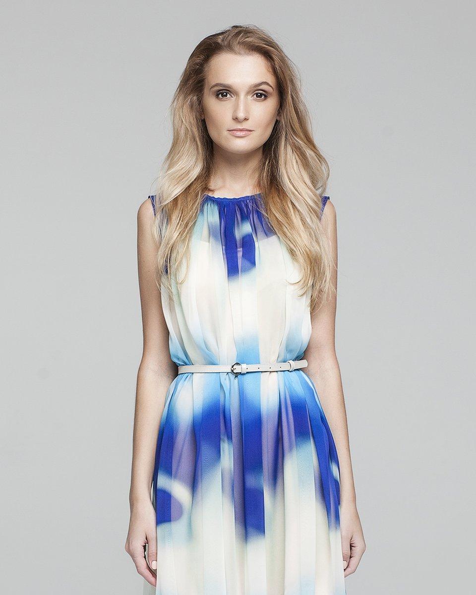 Шелковое платье с морским принтом