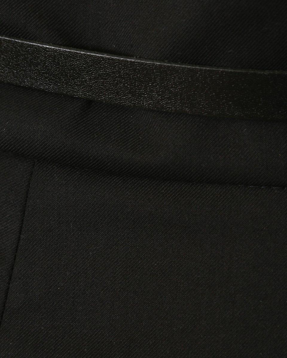 Шорты строгого кроя с высокой талией, черного цвета