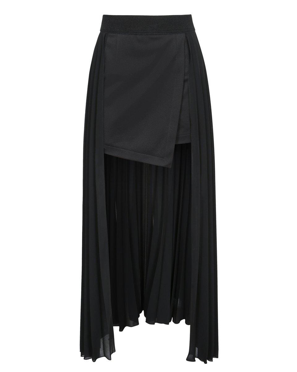 Шорты-юбка со шлейфом-гофре