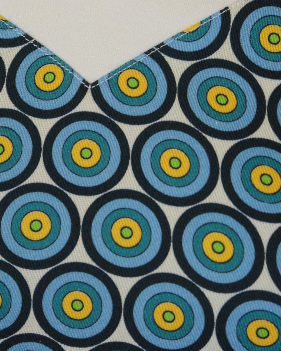 Топ из двух видов ткани с принтом «круги»