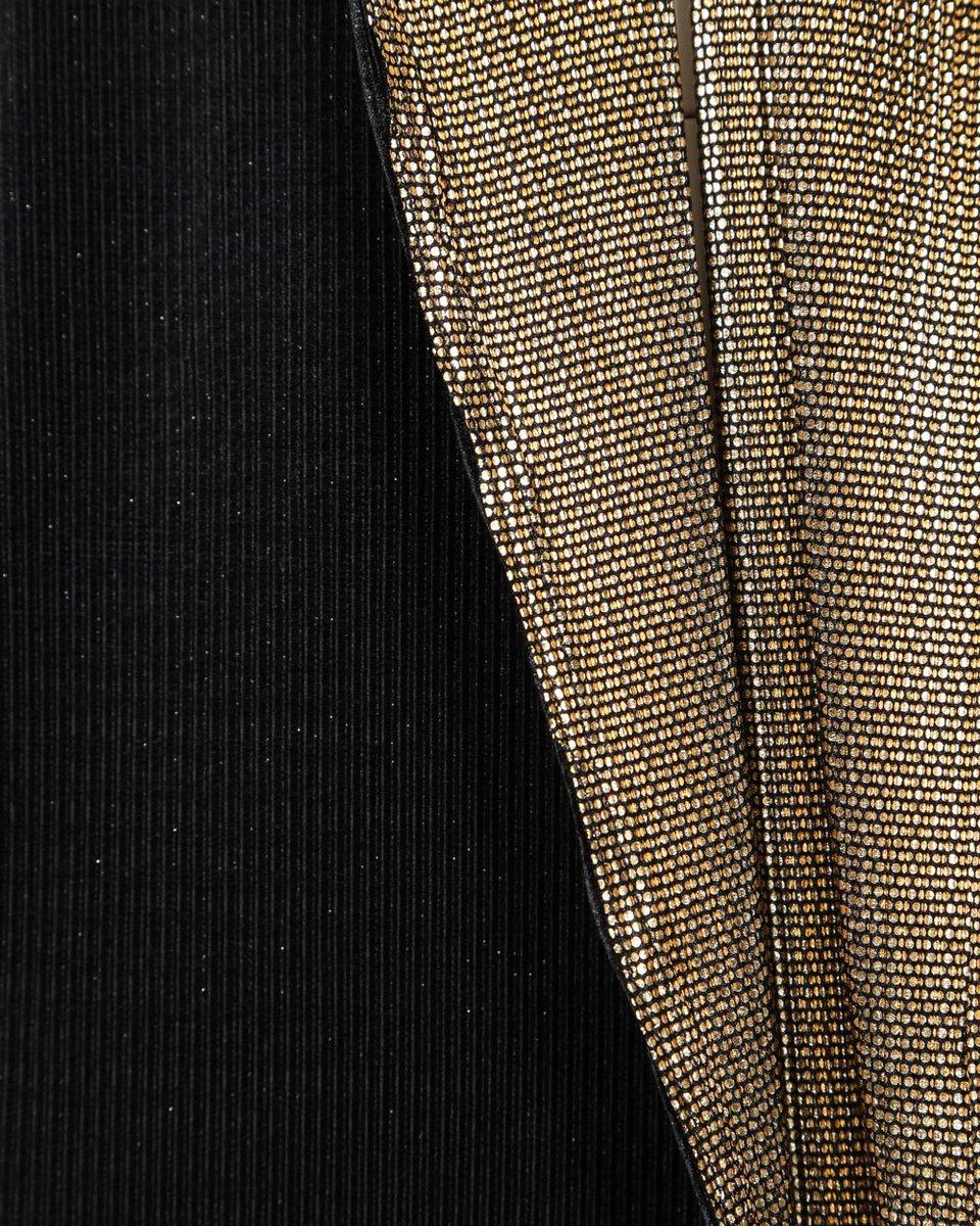Туника двусторонняя черная с золотом из фактурной ткани