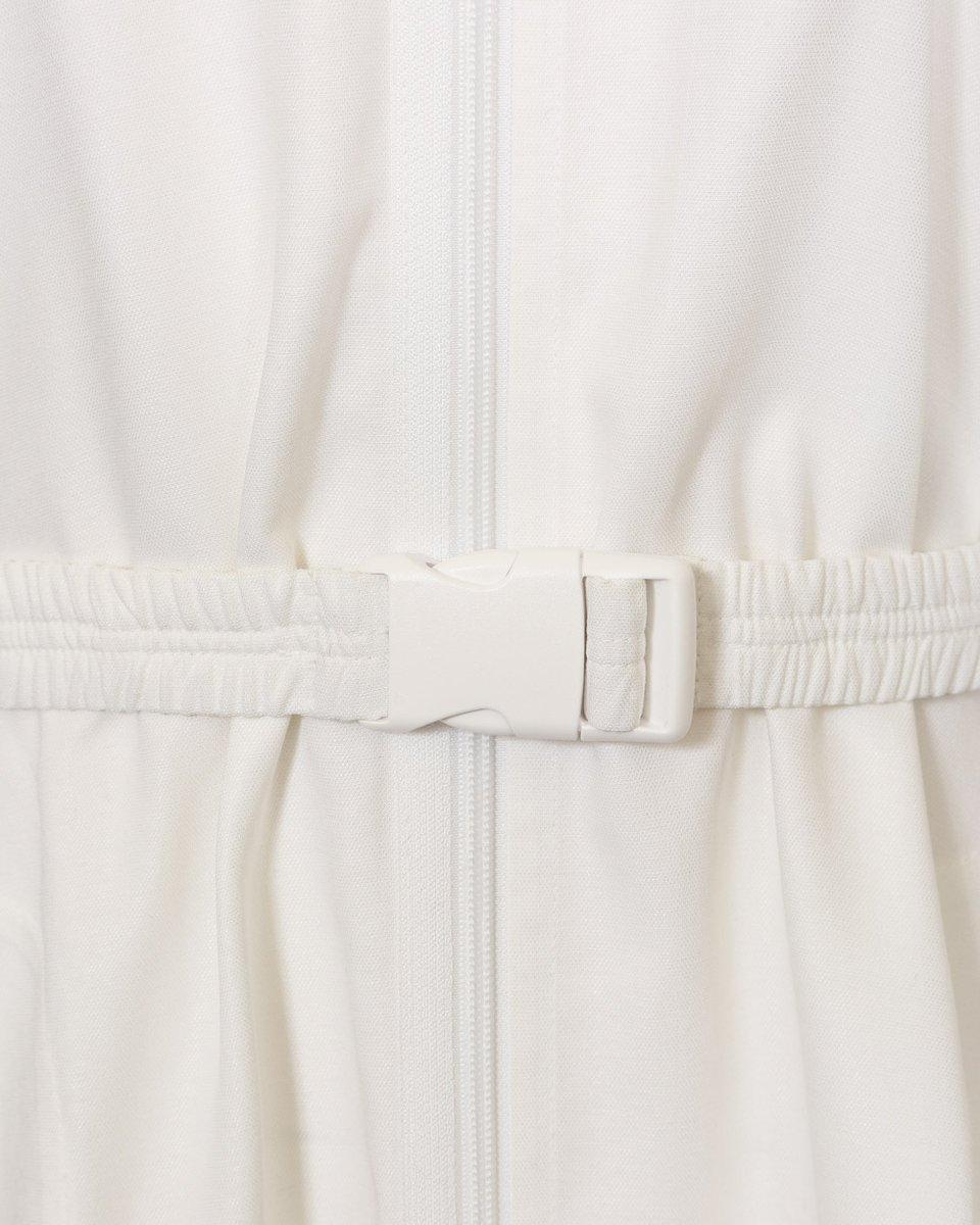Туника с асимметричным низом, белого цвета