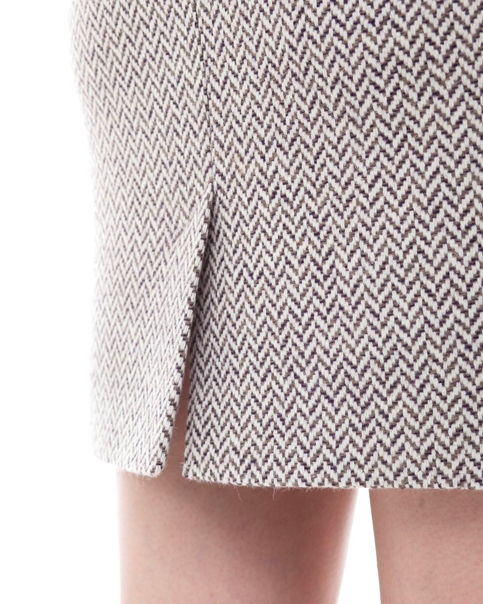 Твидовая юбка-карандаш