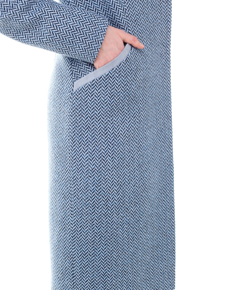 Твидовое пальто-жакет
