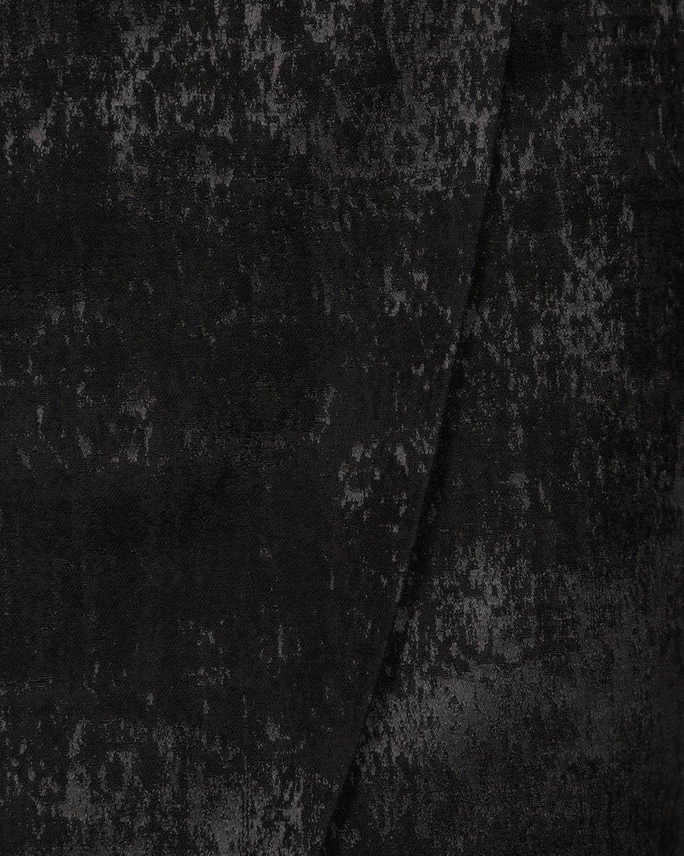Юбка из жаккарда с асимметричным низом