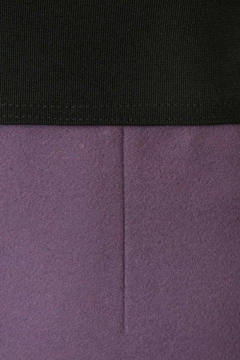 Юбка мини сиреневого цвета из драпа