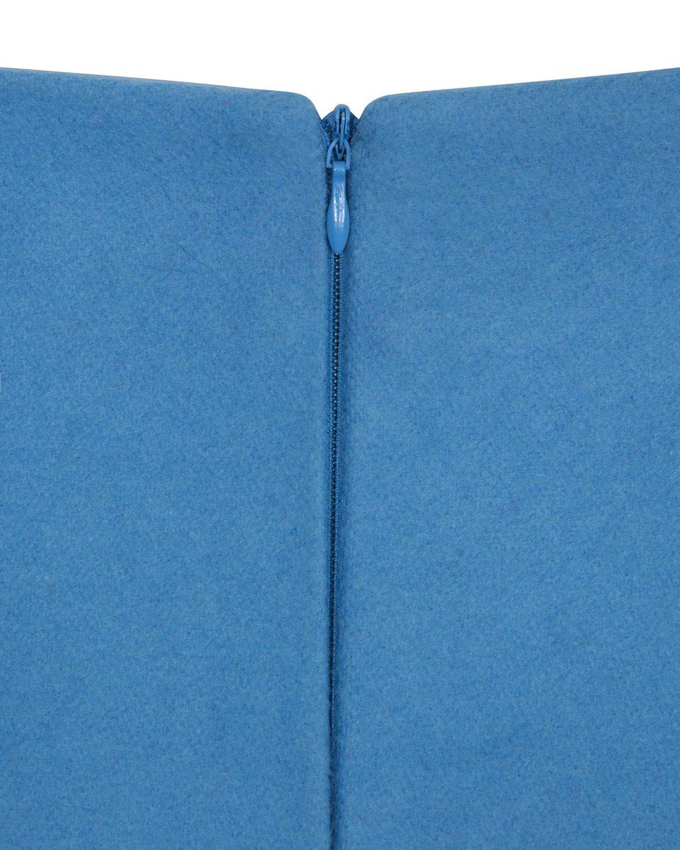 Юбка-карандаш из премиальной шерсти с фестонами