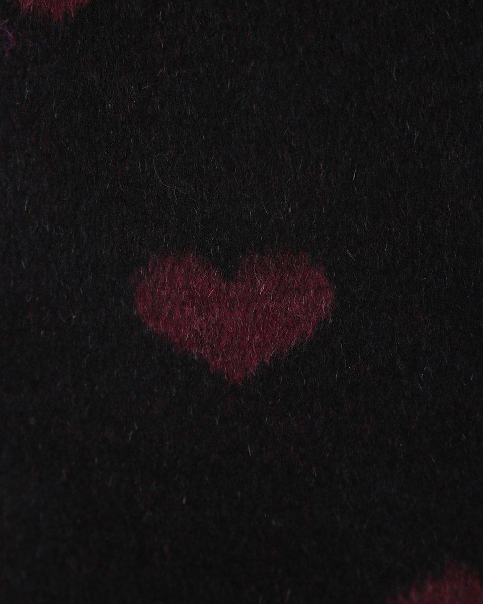 """Шерстяная юбка-карандаш с принтом """"Сердца"""""""