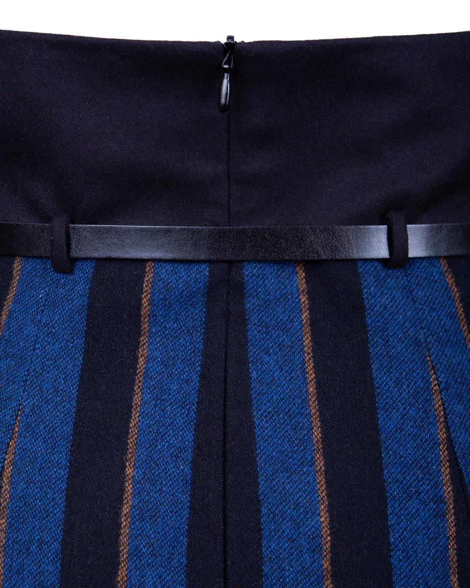 Юбка карандаш с фигурным поясом