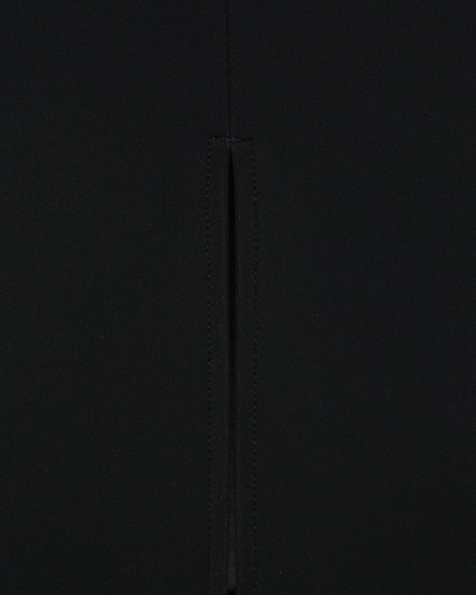 Юбка карандаш с завышенной линией талии, черного цвета