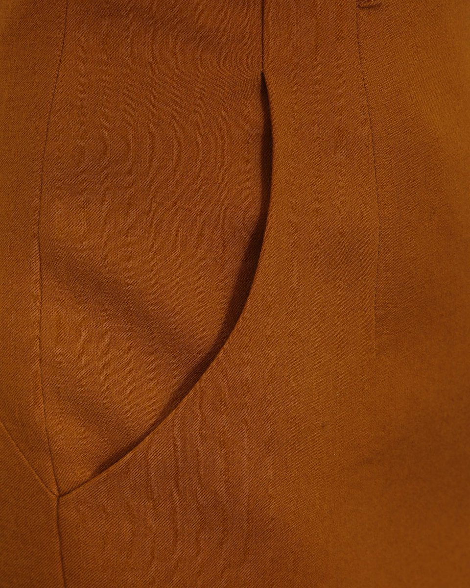 Юбка-карандаш с завышенной линией талии, горчичного цвета