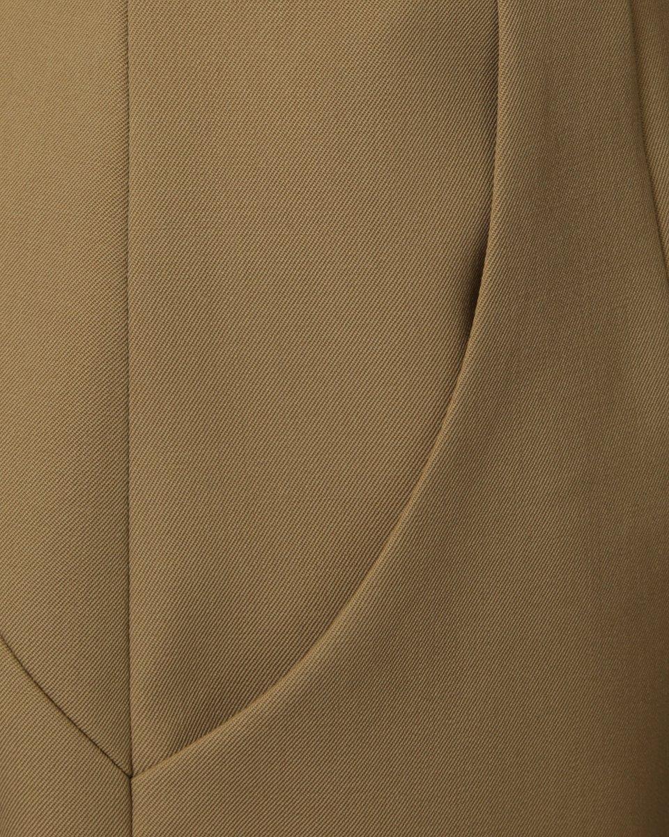 Юбка карандаш с завышенной линией талии песочного цвета