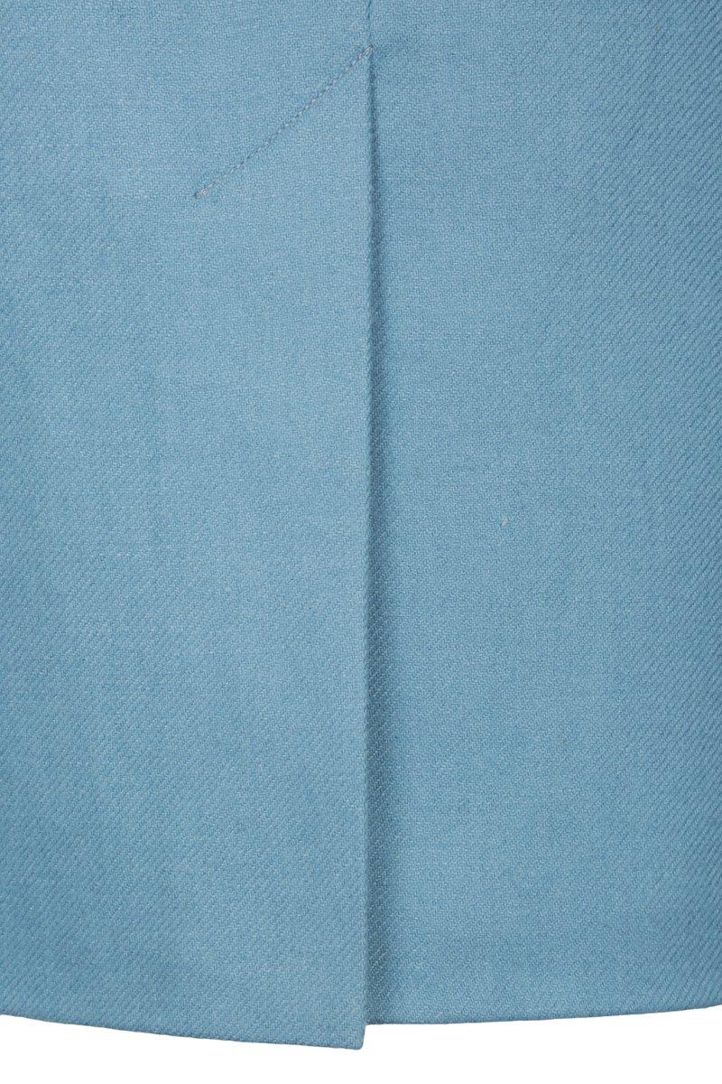 Юбка-карандаш с завышенной линией талии серо-голубого цвета