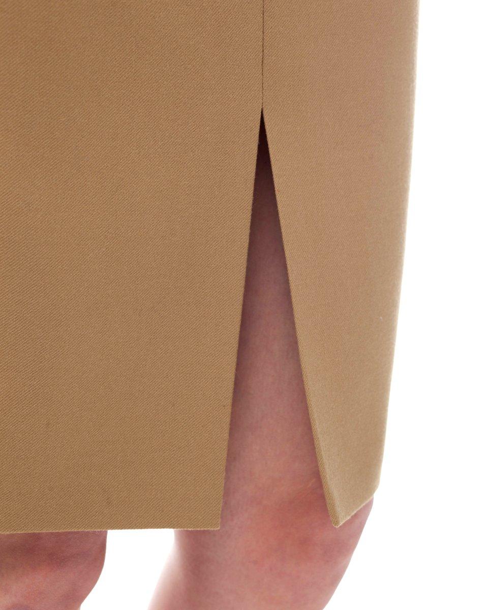 Юбка-карандаш с завышенной линией талии, песочного цвета