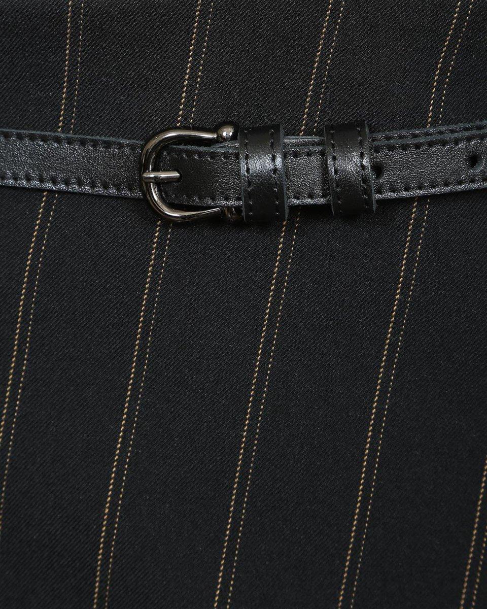 Юбка мини на запах черного цвета