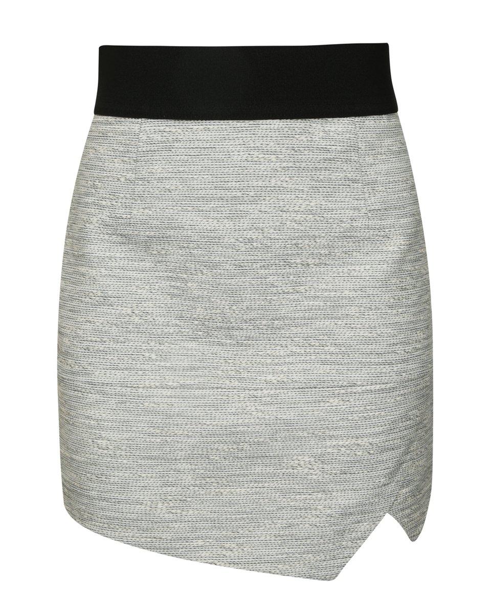 Юбка-мини серого цвета