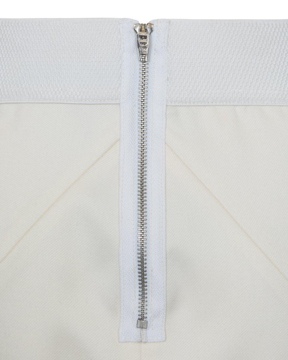 Юбка на резинке белого цвета