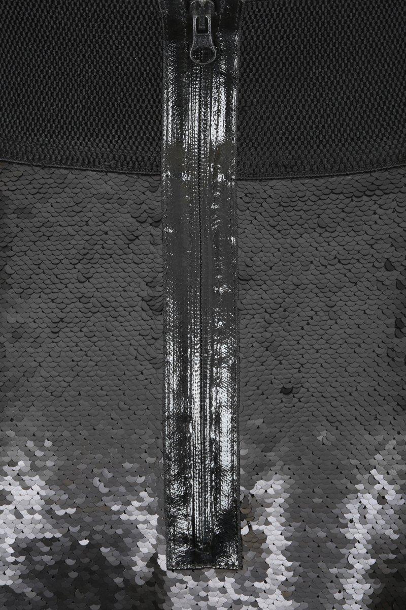 Юбка с пайетками длины макси