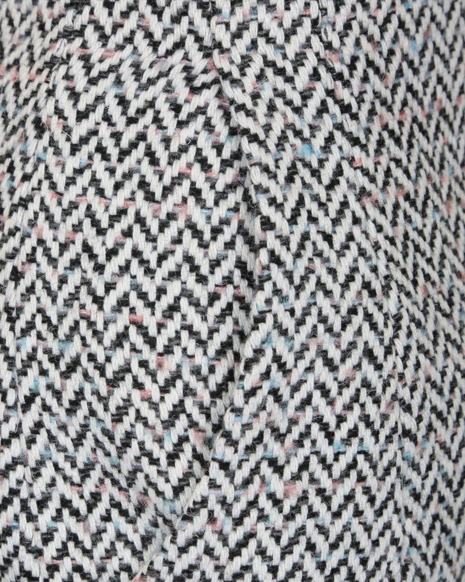 Юбка-карандаш из твида с узором «елочка»