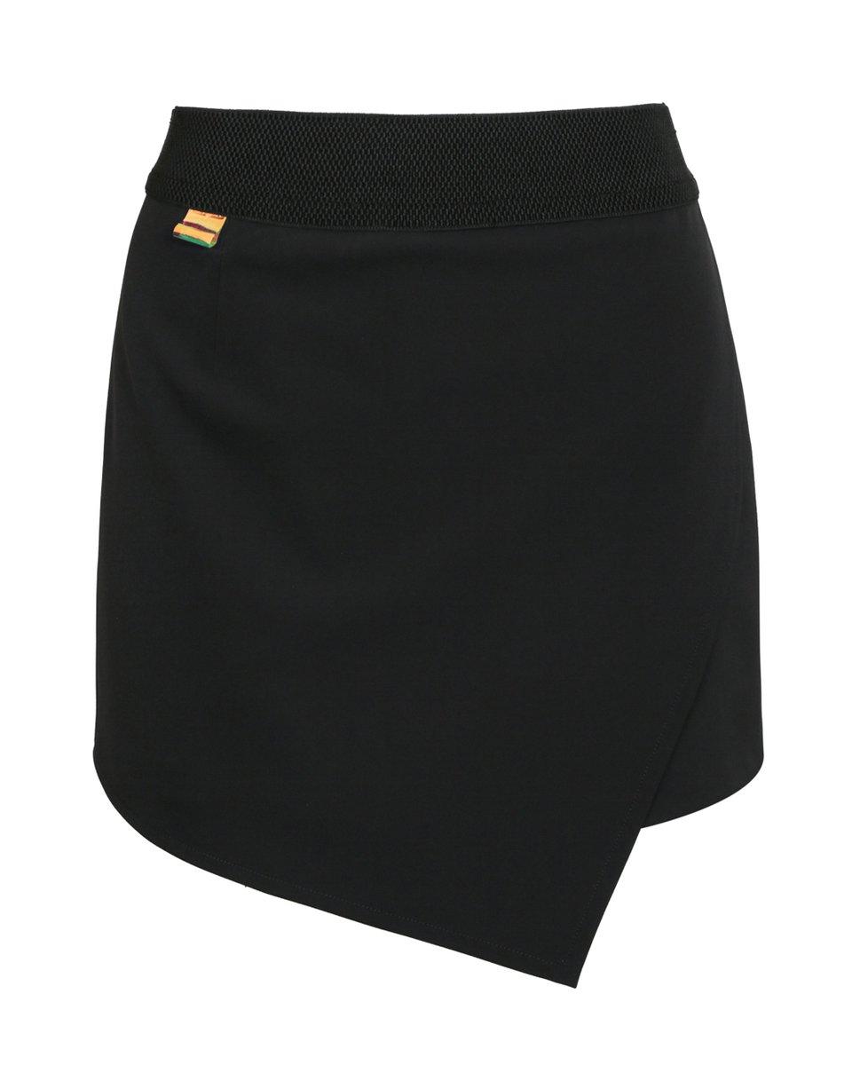 Юбка-шорты черного цвета