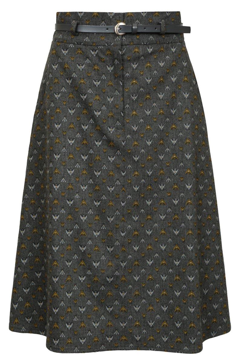 Юбка-трапеция из костюмной ткани