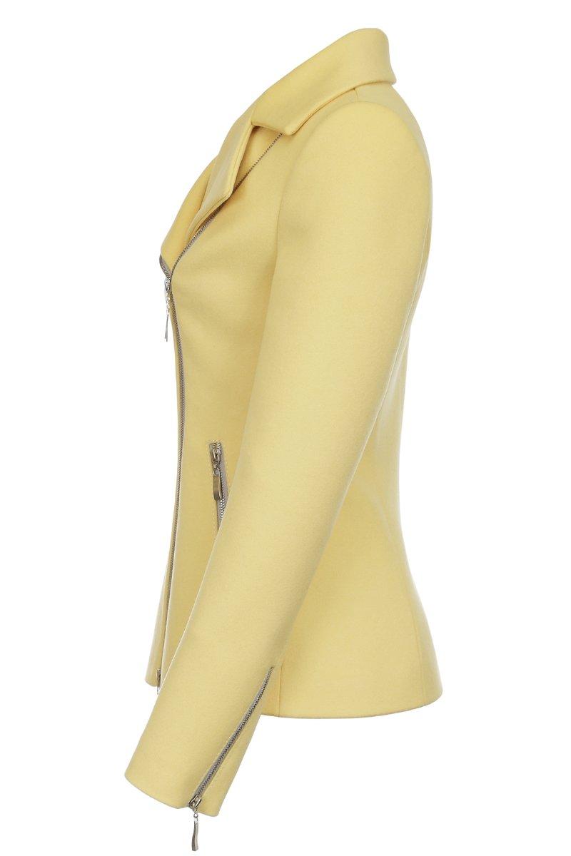 Жакет из шерсти, желтый