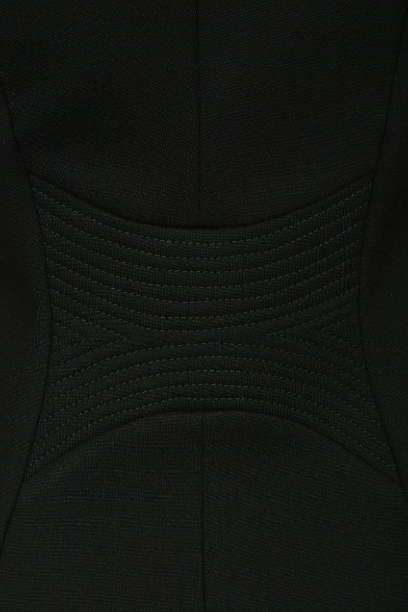 Жакет-косуха в широкую белую полоску